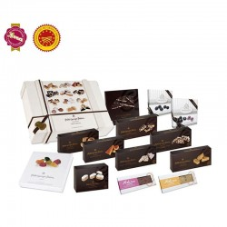 Kasten Sortiment speziell Feinkost mit Nugat, Schokolade und Süßigkeiten