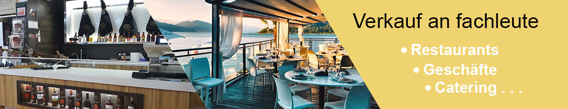 Verkauf an Fachleute: Restaurants, Fachgeschäfte, Catering.....